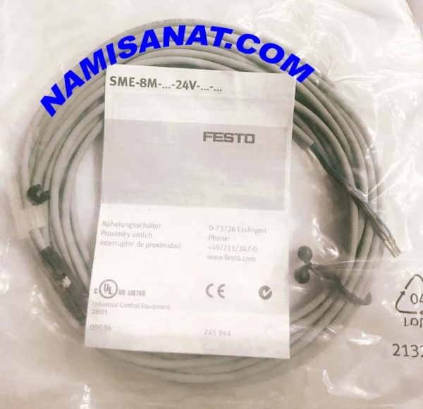 SME-8M-DS-24V-K-5,0-OE, SME-8M-DS-24V-K-5,0-OE,sme ,SME-8M-DS-24V-K-5,0- , SME-8M-DS-24V-K-5, SME-8M-DS-24V-K- , SME-8M-DS-24V , SME-8M-DS , SME-8M , SME , Proximity Sensor , Festo, 543863 , Electric, with reed contact, for drives with, T-slot, assembly from above, with cable ,